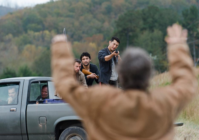 File:AMC 615 Carol Confronts Saviors.png