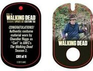 The Walking Dead - Dog Tag (Season 2) - Chandler Riggs CR11 (AUTHENTIC WORN COSTUME PIECE)
