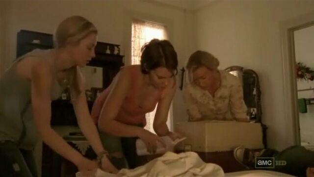 File:Beth Maggie and Patricia treating Carl.JPG