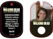 The Walking Dead - Dog Tag (Season 2) - Lauren Cohan C9 (AUTHENTIC WORN COSTUME PIECE)