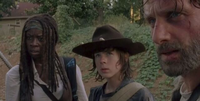 File:Michonne,Carl,Rick (Claimed).JPG