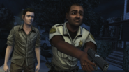 Andre walking dead game and Shawn