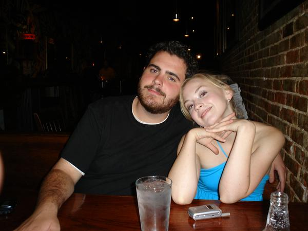 File:Emily Kinney with some bear dude.jpg