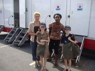 Laurie Holden, Jeryl Prescott Sales, Sophia Kidder and Sebastian Kidder