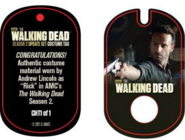 The Walking Dead - Dog Tag (Season 2) - Andrew Lincoln CHT1 (AUTHENTIC WORN COSTUME PIECE)