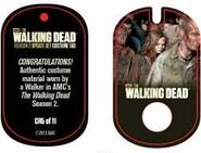 The Walking Dead - Dog Tag (Season 2) - Walker CR5 (AUTHENTIC WORN COSTUME PIECE)