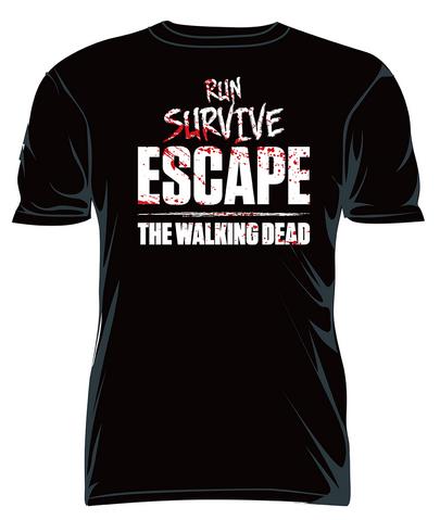 """File:THE WALKING DEAD """"RUN SURVIVE ESCAPE"""" T-SHIRT.PNG"""