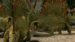Dimetrodon eating