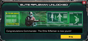 Elite rifleman unlocked