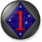 1st Marine Division Badge