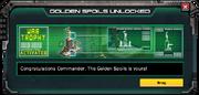 GoldenSpoilsWarTrophy-UnlockMessage