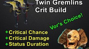 Twin Gremlins Riven Long Lasting Critical Pain (Warframe)