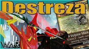 DESTREZA VULPINE MASK - Super Fast Rapier Stance Warframe