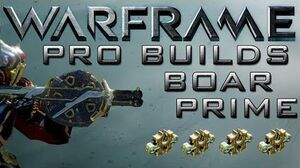 Warframe Boar Prime Pro Buillds 4 Forma Update 13.2