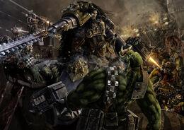 Ragnar Blackmane vs. Orks