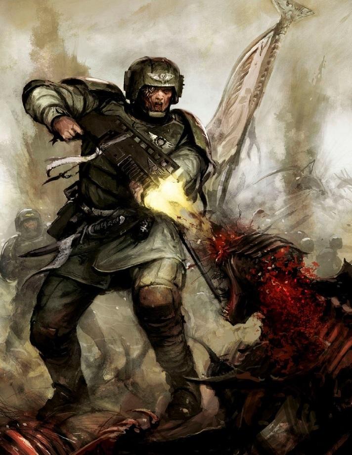 Image - IG Veteran vs. Tyranid.jpg | Warhammer 40k ...