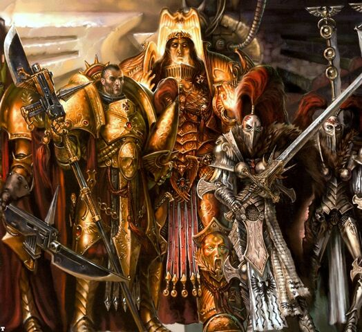 File:God Emperor with Adeptus Custodes and Slient Sisters.jpg