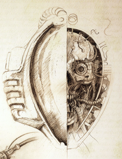 Mechanicum Thallax sketch head