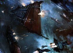 Imperial Navy vs. Chaos Fleet z graves