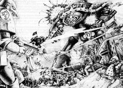 Space Wolves vs. Traitor Titan