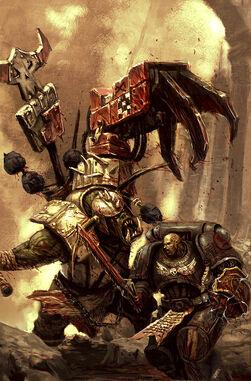 Crimson Fist vs. Ork Warboss