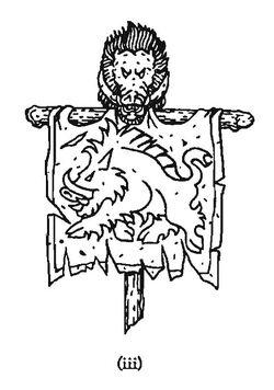 Warhammer Sigmar Blacktusk Banner