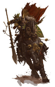 640x1015 11483 Nurgle knight forgeworld GW 2d fantasy knight horse warrior picture image digital art