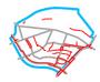 Schemat ścieżek rowerowych na Pradze Południe
