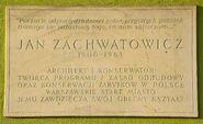 Tablica Jan Zachwatowicz Plac Zamkowy