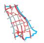 Schemat ścieżek rowerowych w Śródmieściu