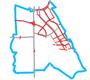 Schemat ścieżek rowerowych na Ursynowie