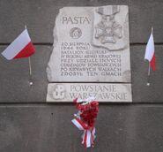 PAST-a (tablica pamiatkowa, batalion Kilinski)