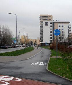 Rechniewskiego (ścieżka rowerowa).JPG
