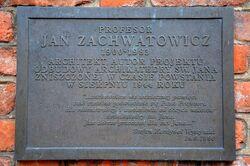 Katedra św. Jana (tablica, Jan Zachwatowicz).JPG