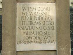 Tablica na Pałacu Zamoyskich.JPG