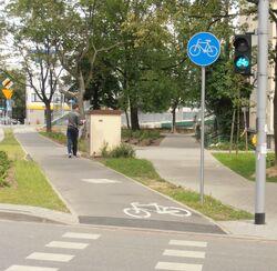 Cybernetyki (ścieżka rowerowa).JPG