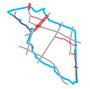 Schemat ścieżek rowerowych we Włochach