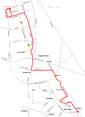 Trasa linii 104 w latach 1988-1990