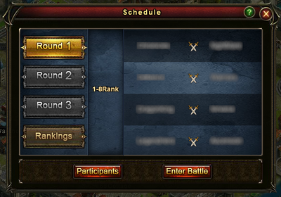Guild Battle Schedule