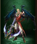 Wings black dragon