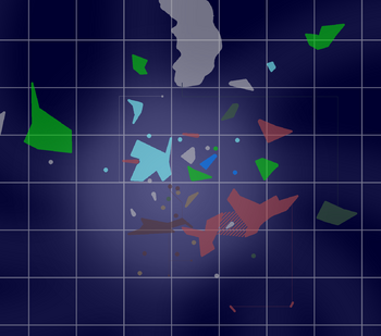 Map-Appearence-spheres of influence