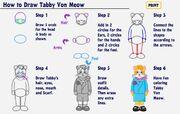 How to Draw Tabby Von Meow