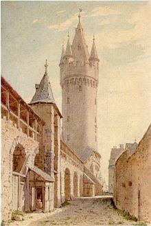 220px-Frankfurt Eschenheimer Turm-Stadtmauer 1790