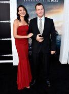 Jonathan Nolan and Lisa Joy at Interstellar in 2014
