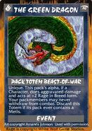 Rage Card depicting the fallen form of Green Dragon