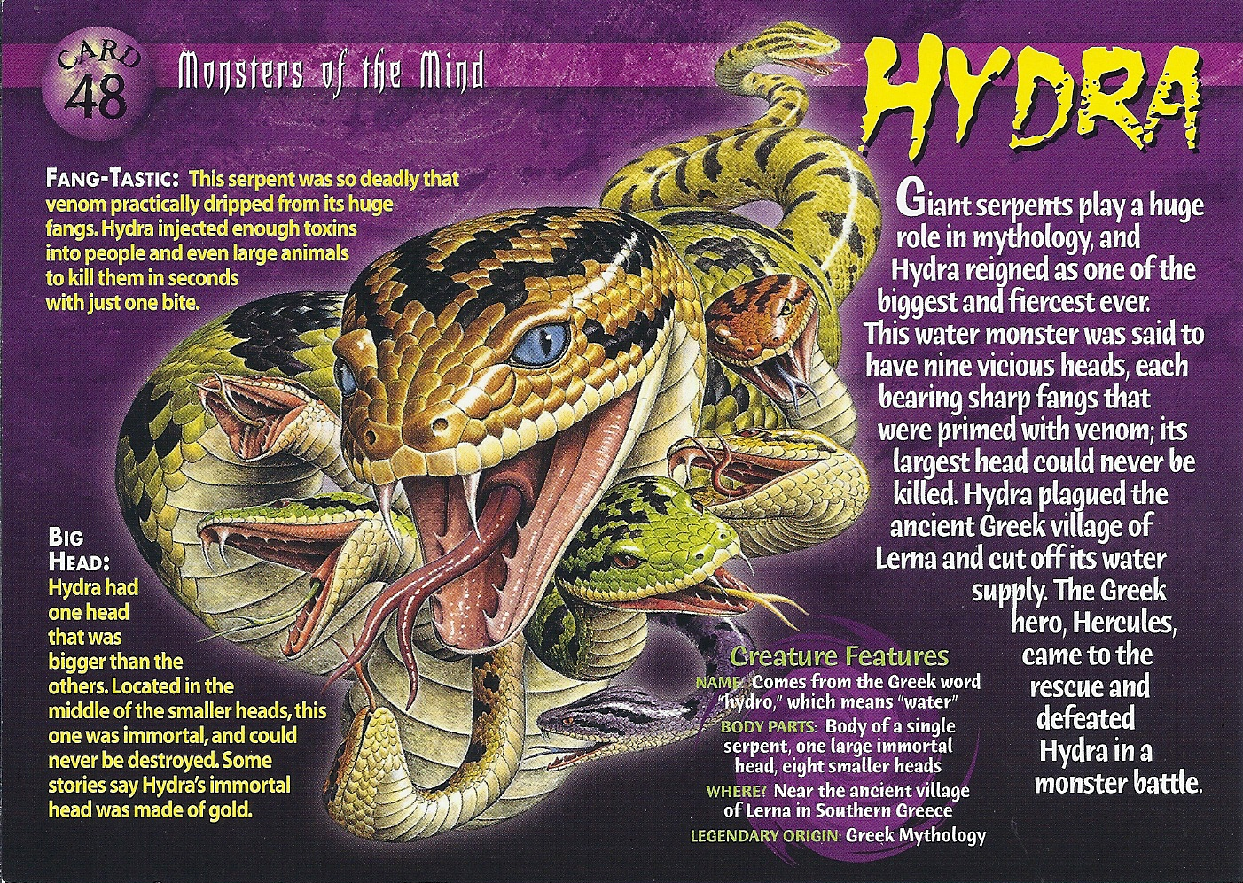 Hydra Monster Wiki Hydra Monsters of The Mind