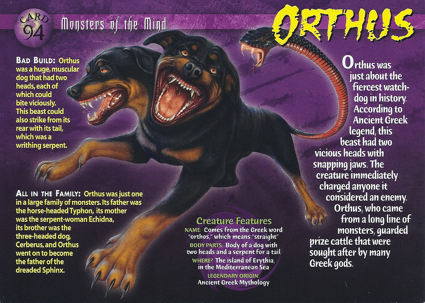 Orthos Greek Mythology Orthus | Wierd ...