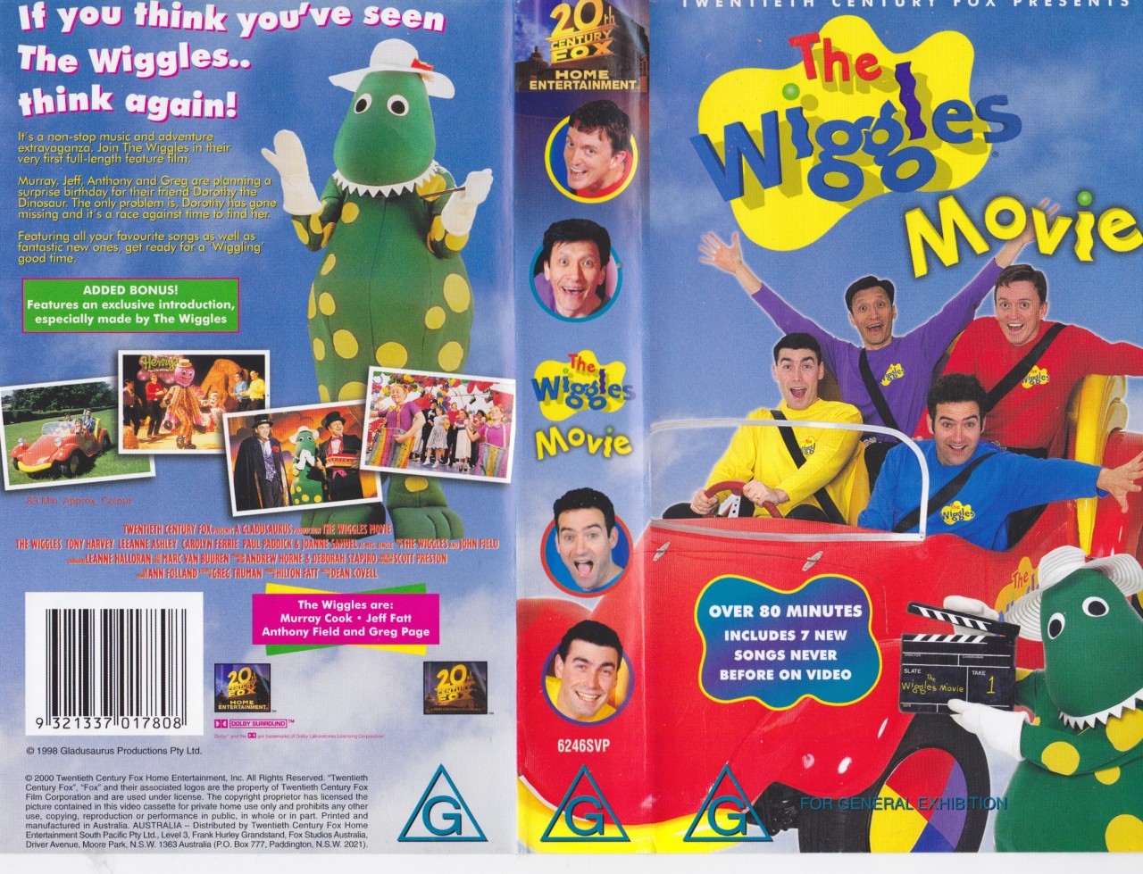 Wiggles Videos TheWigglesMovie-2000VHSRe-