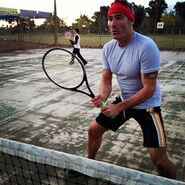 AnthonyFieldPlayingTennis