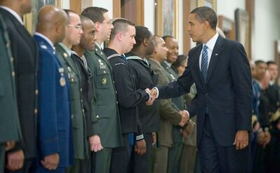ObamaMeetsMilitaryPersonnel1-28-2009